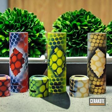 Cerakoted Custom Mods Done In Diamondback Snake Skin In A Variety Of Colors