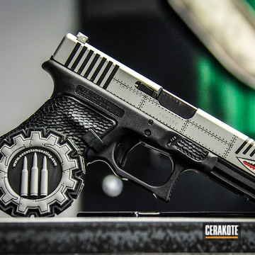 Cerakoted P40 Inspired Glock 22 With All Cerakote And No Engraving