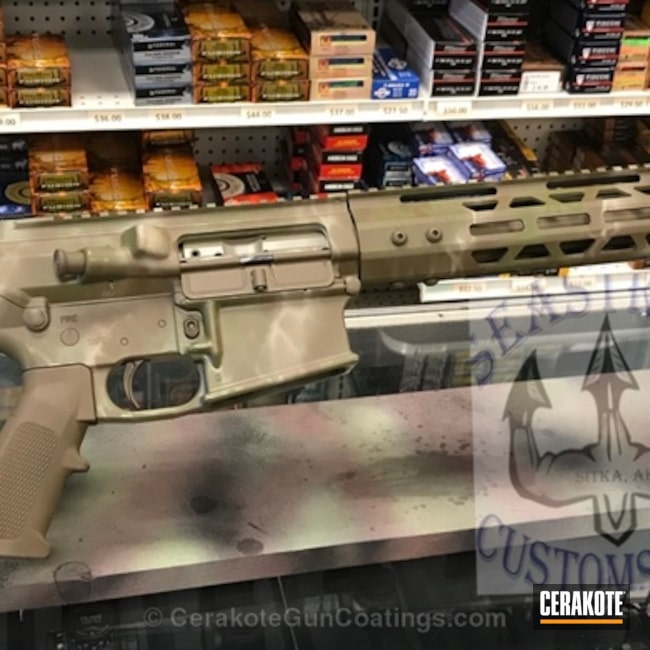 "Thumbnail image for project ""Tactical Rifle done in a Custom Cerakote Camo Finish"""