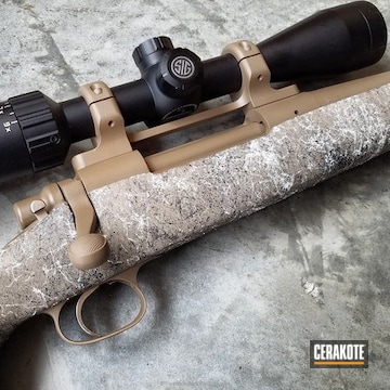 Cerakoted Cerakoted Remington 700 Hunting Rifle In Desert Sand And Glock Fde