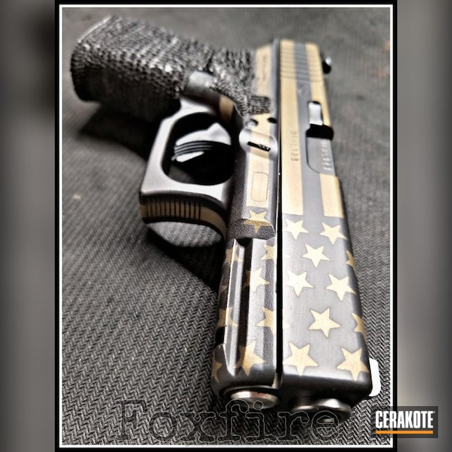 "Thumbnail image for project ""Glock Handgun in a Graphite Black and Burnt Bronze Cerakote Finish"""
