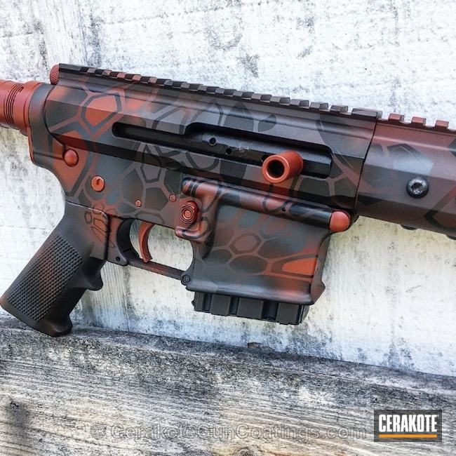 Tactical Rifle coated in USMC Red and Combat Grey