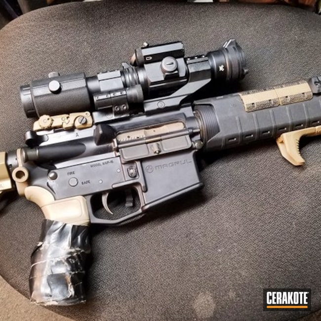 MagPul Upgraded AR-15 Frankengun coated in Elite Earth Cerakote