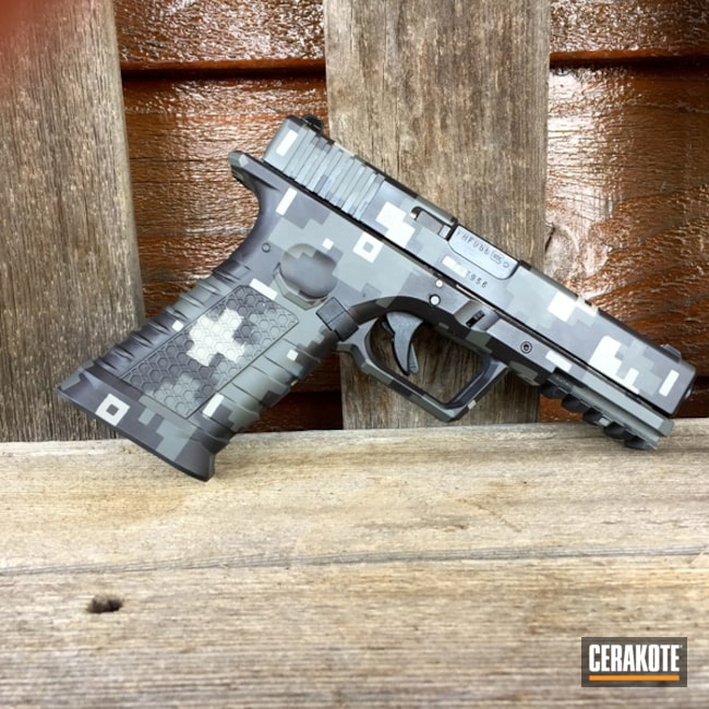 "Thumbnail image for project ""Glock Handgun done in Graphite Black , Battleship Grey and Smith & Wesson Grey Digital Camo"""