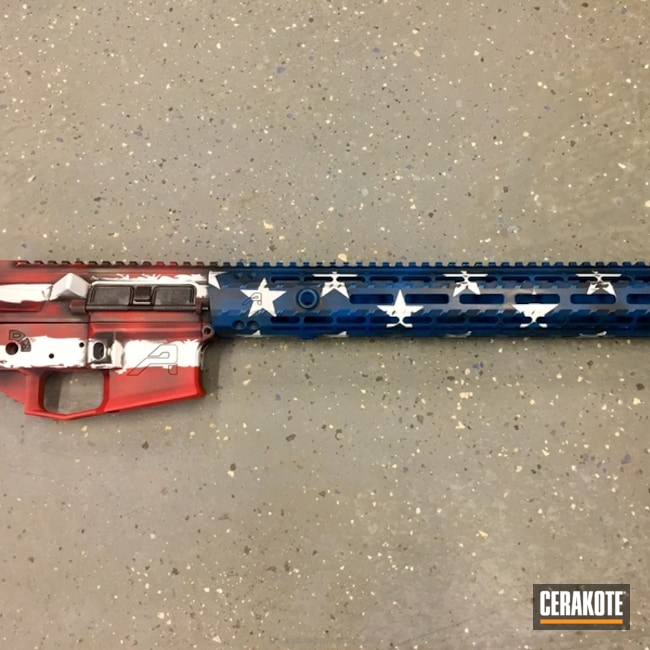 Cerakote American Flag on this Aero Precision AR-15