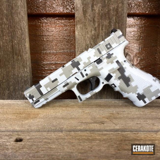 "Thumbnail image for project ""Cerakote Digital Camo finish on this Custom Glock 17 Handgun"""