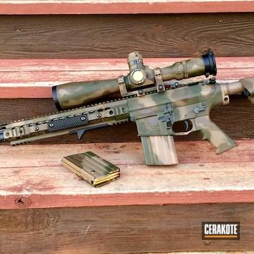 Cerakoted Tactical Rifle Done In A Custom Cerakote Camo Finish
