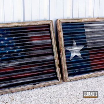 Cerakoted Cerakoted Texas And American Flag Wall Art Pieces