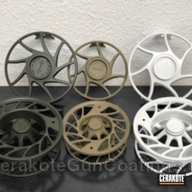 Fly Fishing Reels coated in a Variety of Cerakote Finishes