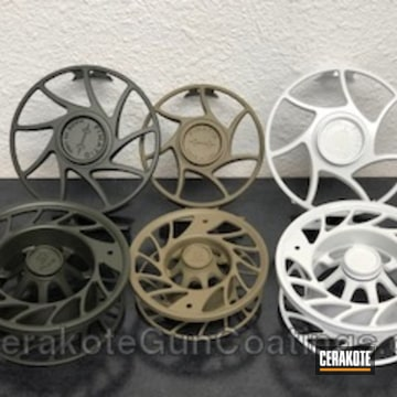 Cerakoted Fly Fishing Reels Coated In A Variety Of Cerakote Finishes