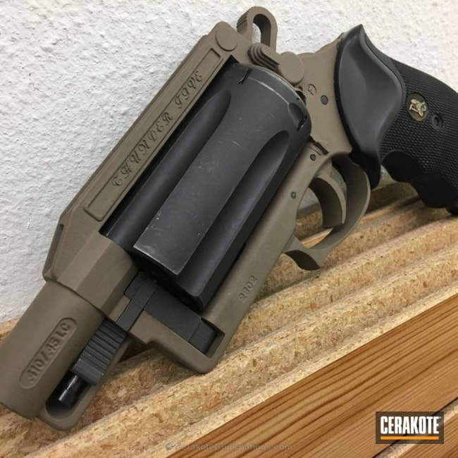 Two Toned Revolver done in MagPul FDE and Gen II Graphite Black