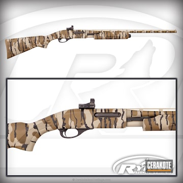 Cerakoted Remington 870 Shotgun Coated In A Mossy Oak Cerakote Finish