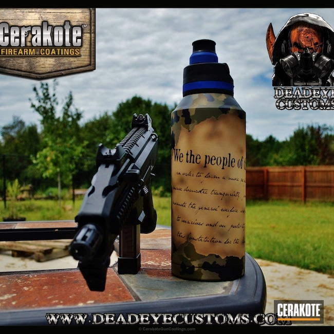 "Thumbnail image for project ""We the People Bottle done in a Custom Cerakote Design and Finish"""