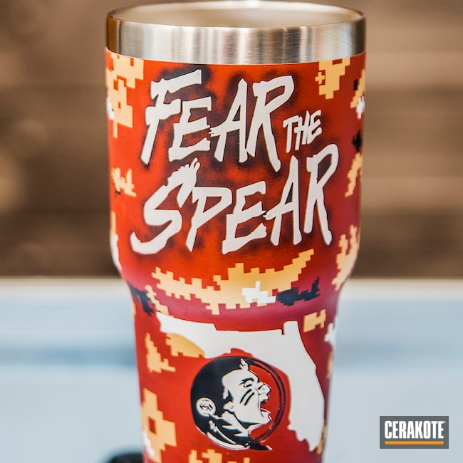 "Thumbnail image for project ""Custom Tumbler Cup Cerakoted in a Digital Camo Finish"""