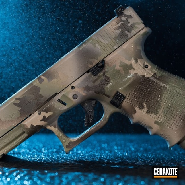 Cerakote MutliCam finish done on this Glock 19