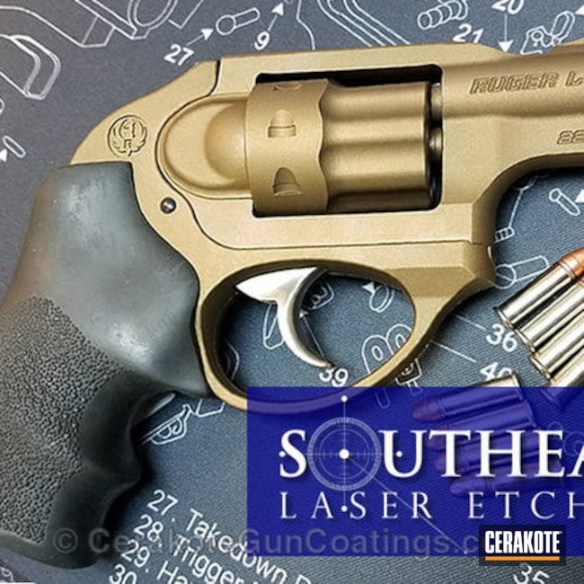 Ruger LCR 22lr coated in Burnt Bronze