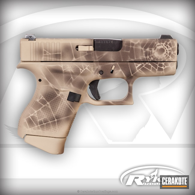 Glock 43 Handgun in a Shattered Camo Cerakote Finish
