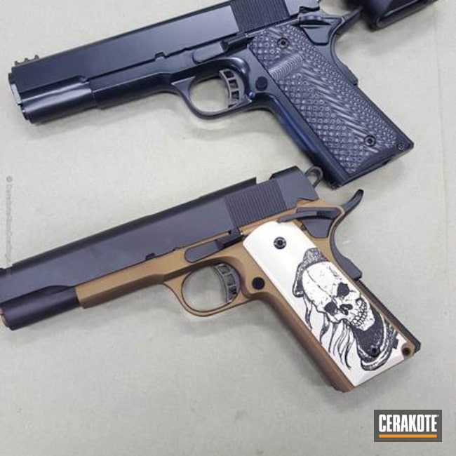 1911 Handguns done in a Custom Cerakote Finishes
