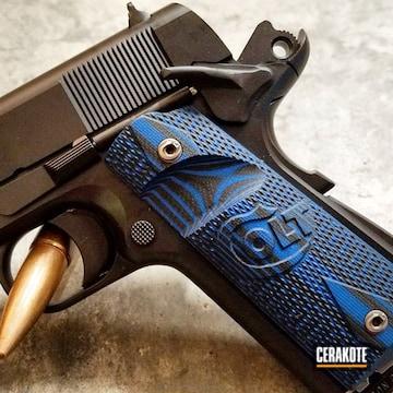 Cerakoted Cerakote H-146 Graphite Black Featured On This Custom Colt 1911