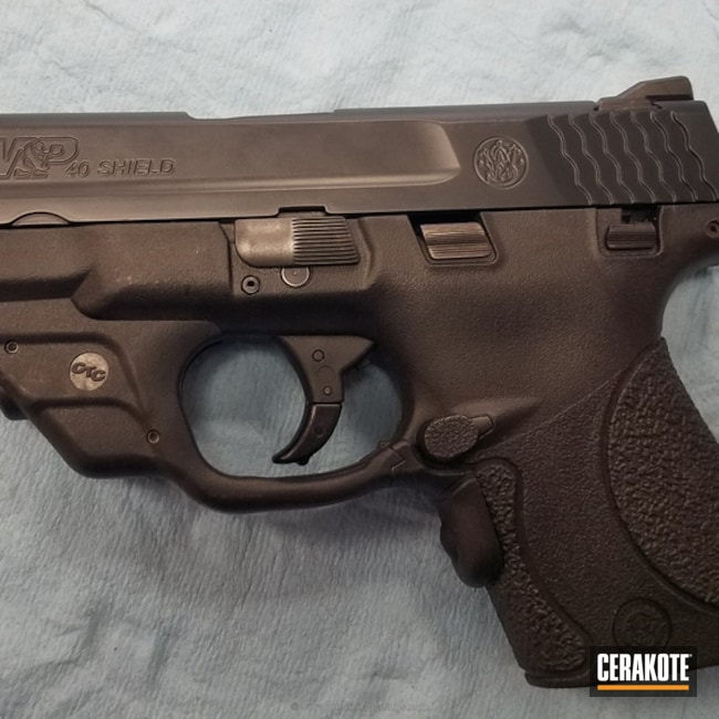 Cerakote Elite Midnight featured on this Smith & Wesson M&P