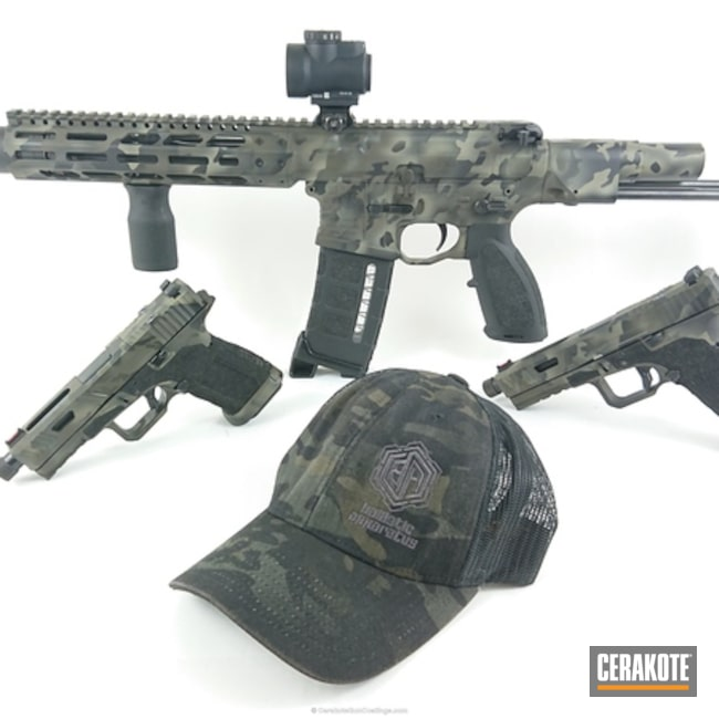 Matching Handguns and PDW in a Cerakote MultiCam Finish