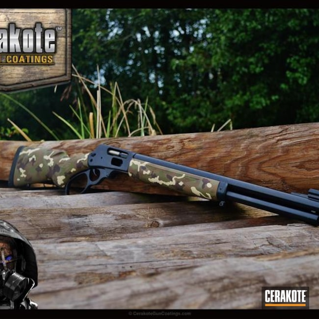 "Thumbnail image for project ""Cerakote MultiCam on this Lever Action Rifle"""