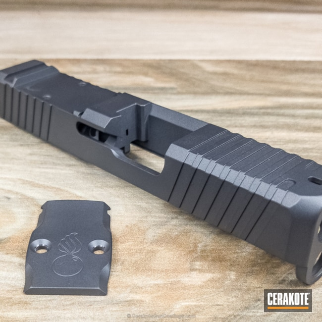 Cerakote H-234 Sniper Grey on this Pistol Slide