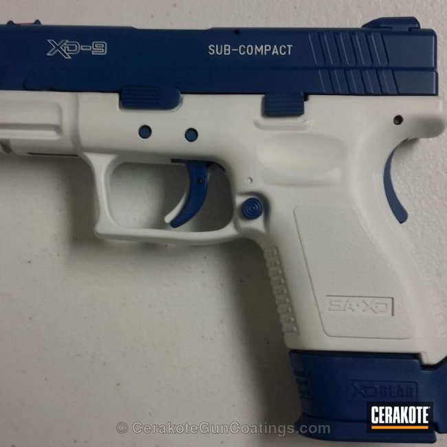 Springfield XD done in Stormtrooper White and Sky Blue