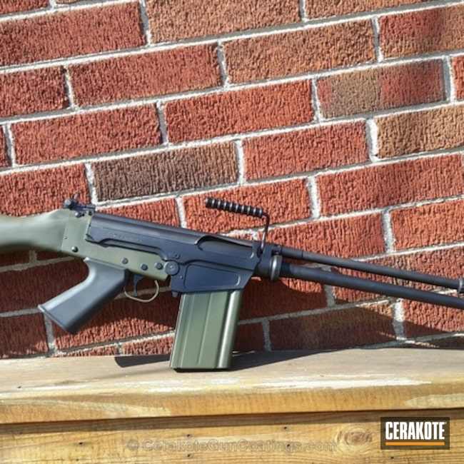 Cerakoted: DS Arms,Two Tone,SA-58,Gen II Graphite Black HIR-146,O.D. Green H-236,.308