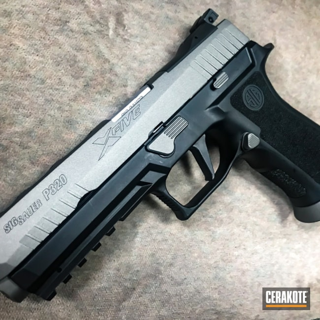 Cerakote H-227 Tactical Grey applied to this Sig Sauer P320 Handgun
