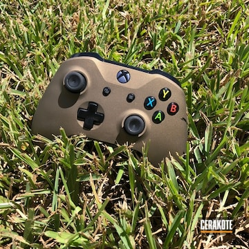 Cerakoted Simple Solid Color Xbox Controller In H-148 Burnt Bronze