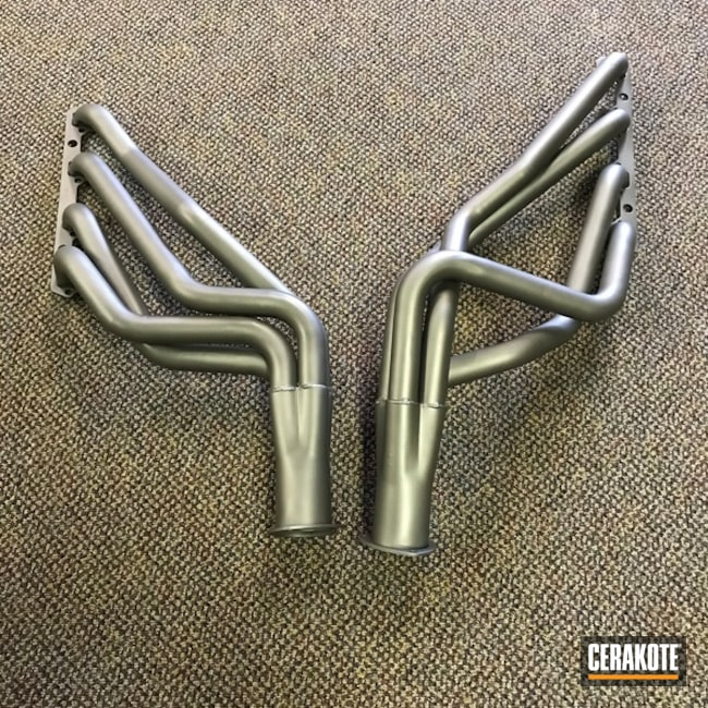 "Thumbnail image for project ""Automotive Headers coated in C-129 Stainless"""