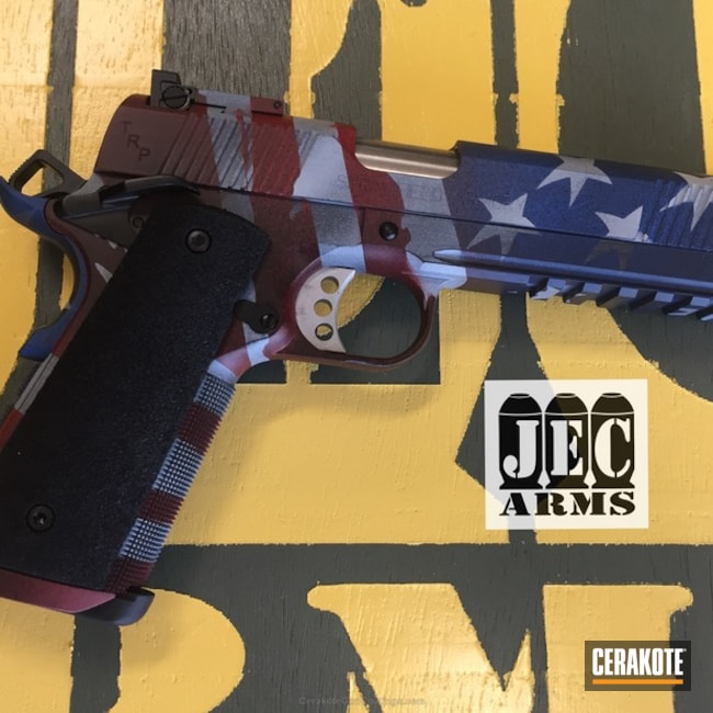 American Flag Cerakote Finish on this Springfield 1911
