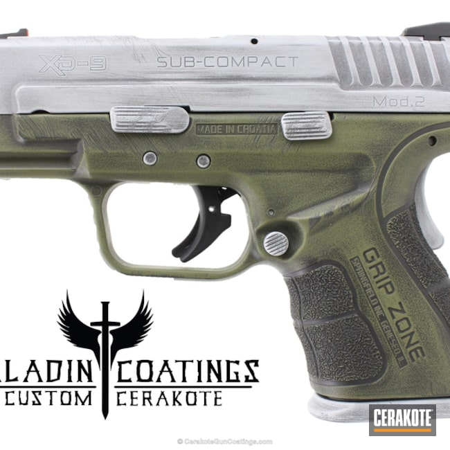 "Thumbnail image for project ""Distressed Cerakoted Springfield XD-9 Sub-Compact Handgun"""