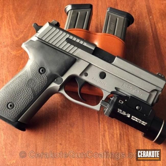Cerakoted: Graphite Black H-146,Pistol,Tactical Grey H-227