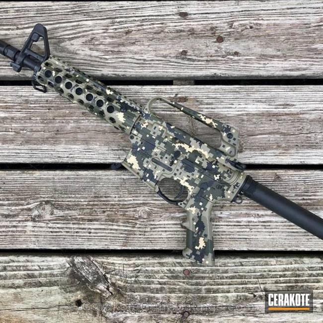 Cerakoted: Coyote Tan H-235,Digital Camo,Graphite Black H-146,SBR,MAGPUL® O.D. GREEN H-232