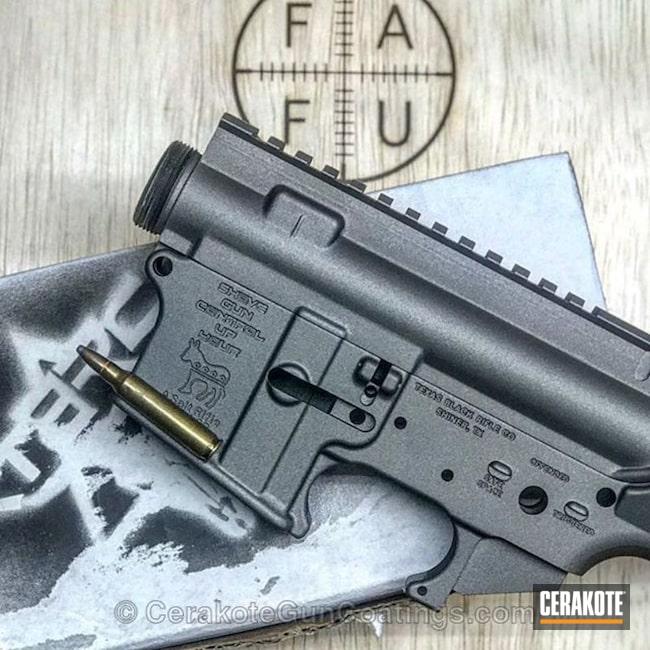 Cerakoted: Texas Black Rifle Co,AR Pistol,Stripped,Tungsten H-237,Tactical Rifle,AR-15