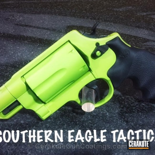 Cerakote Zombie Green and Graphite Black on this Smith & Wesson Governor Revolver