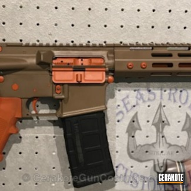 "Thumbnail image for project ""3 parts Hunter Orange 2 parts MagPull FDE to create the flat orange look"""