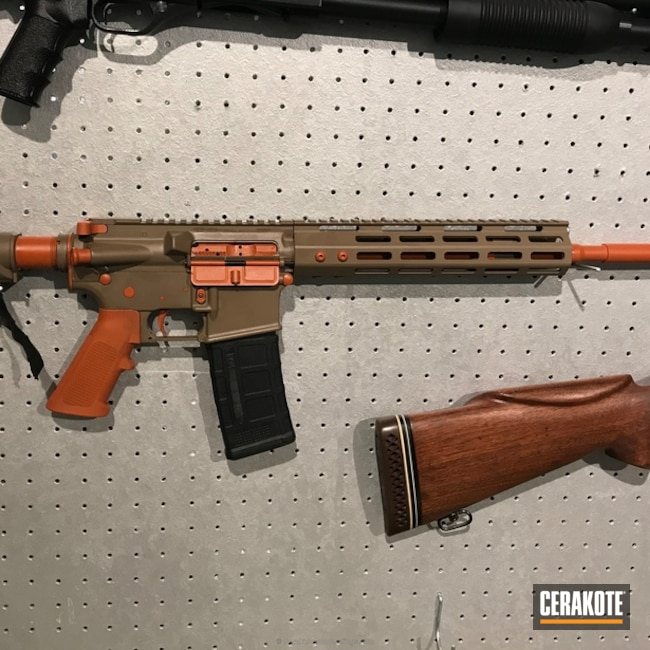 Cerakoted: MAGPUL® FLAT DARK EARTH H-267,Anderson Mfg.,AR15 Builders Kit,Tactical Rifle,Hunter Orange H-128,AR-15