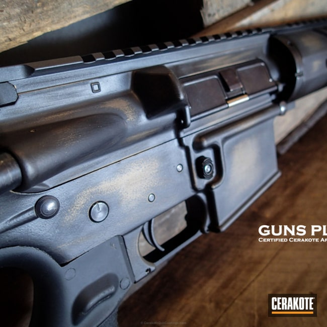 Cerakoted: Rifle,Battleworn,Graphite Black H-146,Burnt Bronze H-148,Tactical Rifle,DPMS,AR Rifle