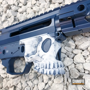 Cerakoted Spike's Tactical The Jack Cerakoted In Usmc Red And Kel-tec Navy Blue