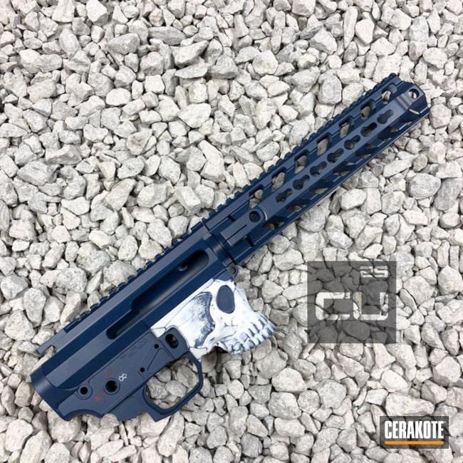 Cerakoted: Skull,Color Fill,Spike's Tactical,Distressed,Upper / Lower / Handguard,USMC Red H-167,Magazine,Jack Lower,KEL-TEC® NAVY BLUE H-127
