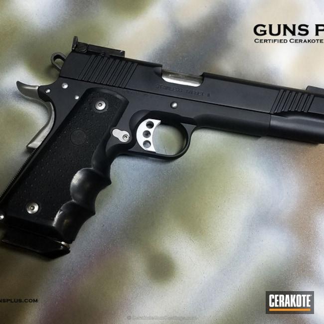 Cerakoted: Color Fill,Kimber 1911,Graphite Black H-146,Kimber,Solid Tone,Satin Aluminum H-151,Pistol