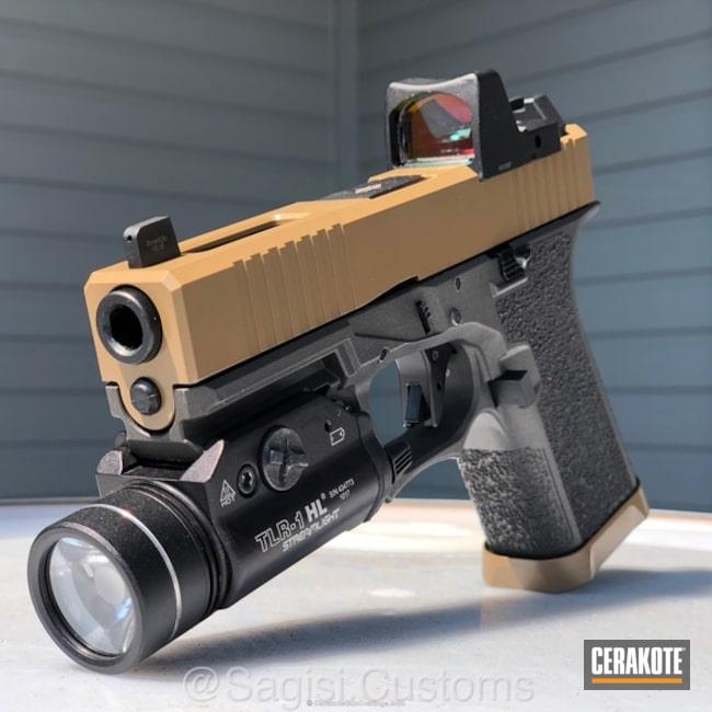 Cerakoted: 20150 E-190,Cerakote Elite Series,Stippled,Pistol,Glock