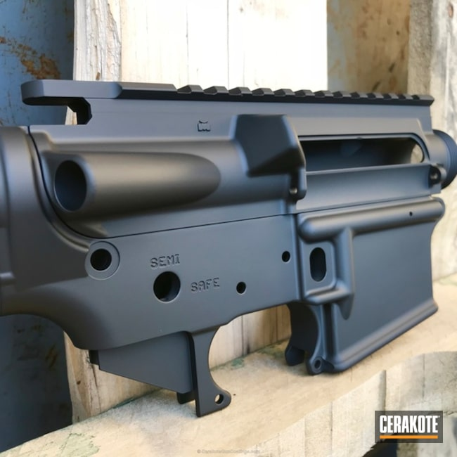 Lower Receiver done in H-146 Graphite Black