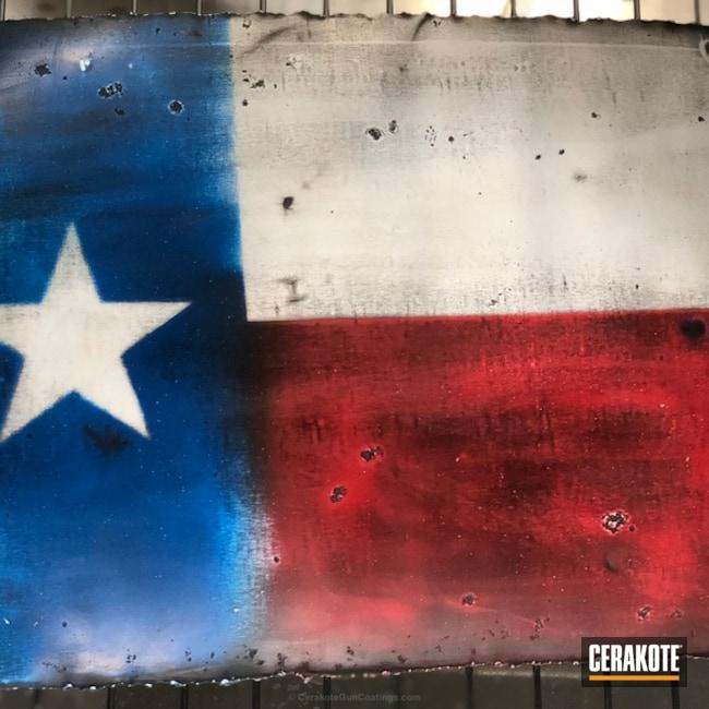 Cerakoted: Wall Art,FIREHOUSE RED H-216,Snow White H-136,Graphite Black H-146,More Than Guns,Texas Flag,Sky Blue H-169,Distressed Texas Flag