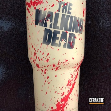 Cerakoted Custom Tumbler Cup Done In A Walking Dead Themed Cerakote Finish