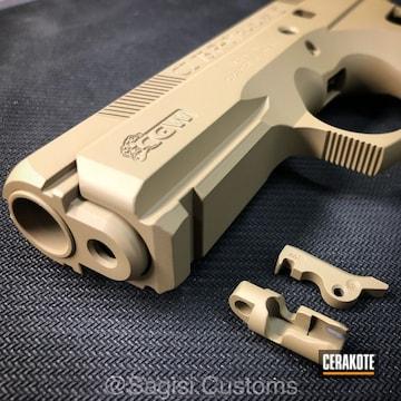 Cerakoted Cz 75 Done In H-235 Coyote Tan