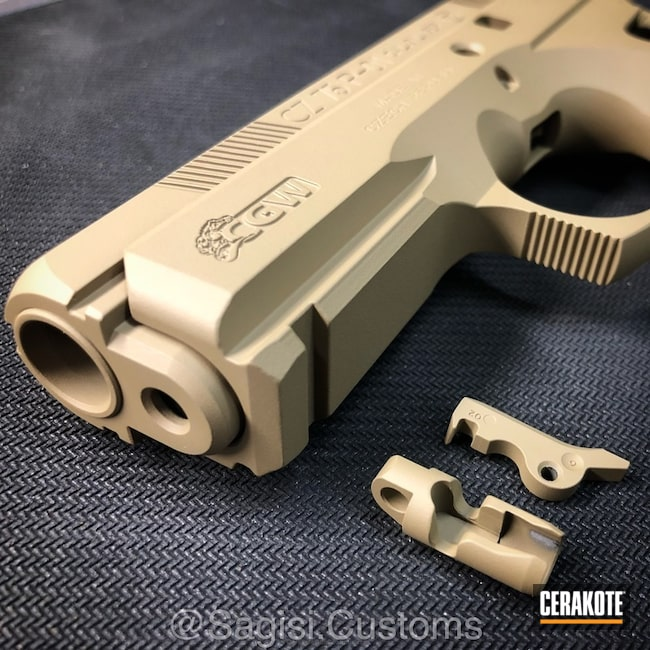 Cerakoted Cz 75 Done In H-235 Coyote Tan